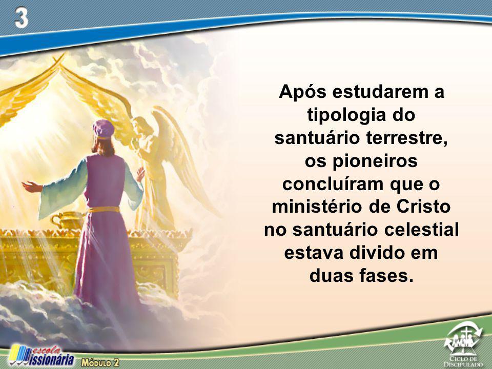 Após estudarem a tipologia do santuário terrestre, os pioneiros concluíram que o ministério de Cristo no santuário celestial estava divido em duas fas