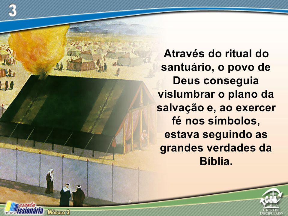 Através do ritual do santuário, o povo de Deus conseguia vislumbrar o plano da salvação e, ao exercer fé nos símbolos, estava seguindo as grandes verd
