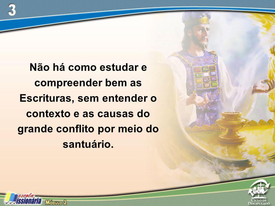 Não há como estudar e compreender bem as Escrituras, sem entender o contexto e as causas do grande conflito por meio do santuário.