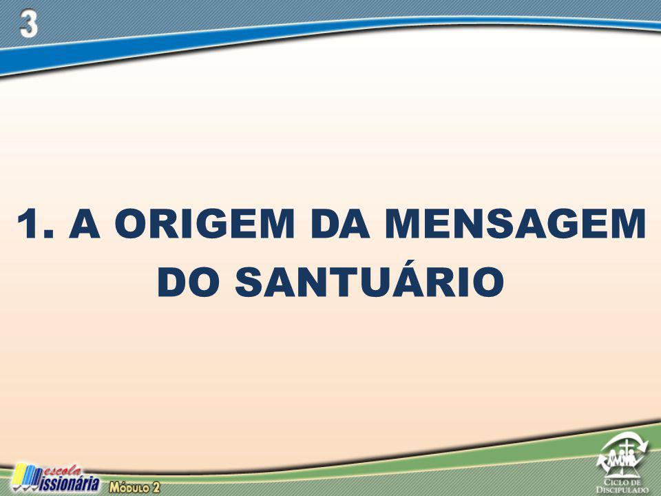 1. A ORIGEM DA MENSAGEM DO SANTUÁRIO