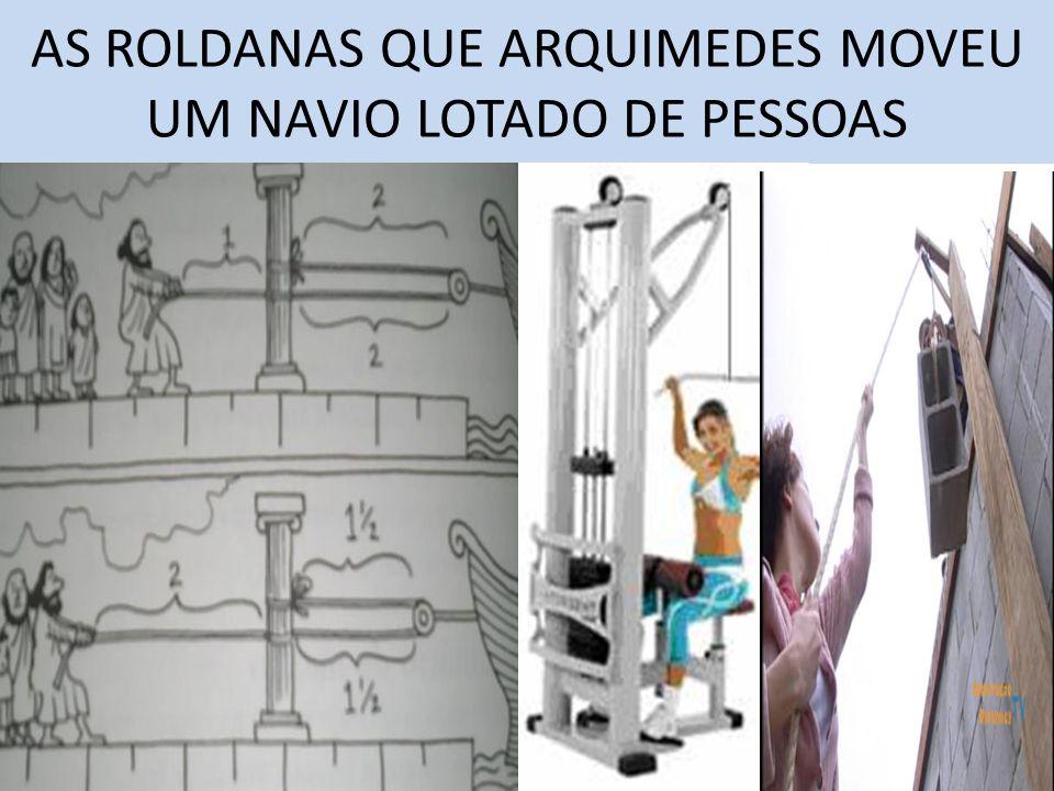 AS ROLDANAS QUE ARQUIMEDES MOVEU UM NAVIO LOTADO DE PESSOAS