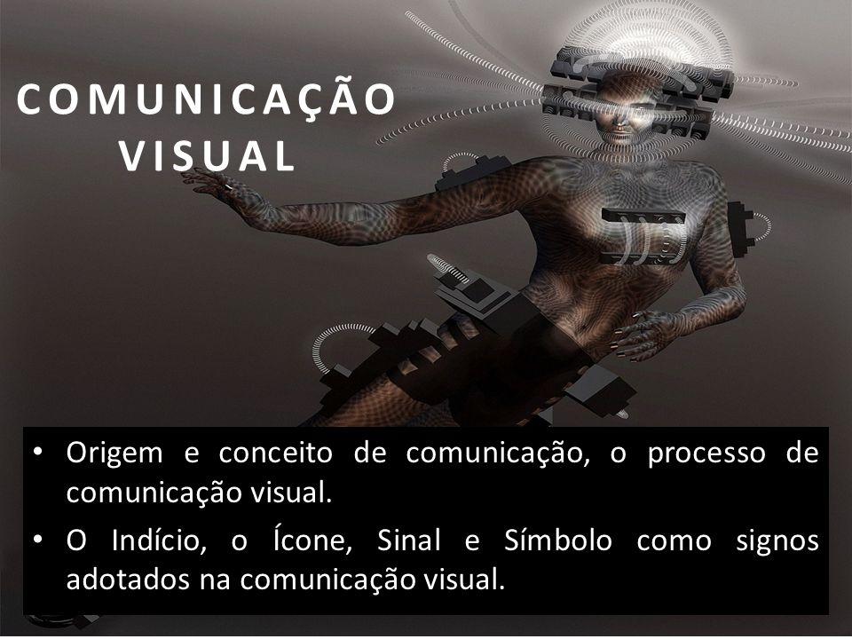 COMUNICAÇÃO VISUAL Origem e conceito de comunicação, o processo de comunicação visual.