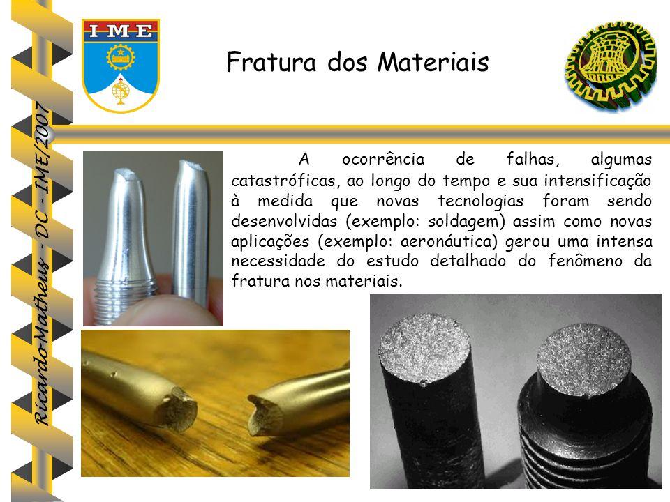 Ricardo Matheus - DC - IME/2007 A ocorrência de falhas, algumas catastróficas, ao longo do tempo e sua intensificação à medida que novas tecnologias f