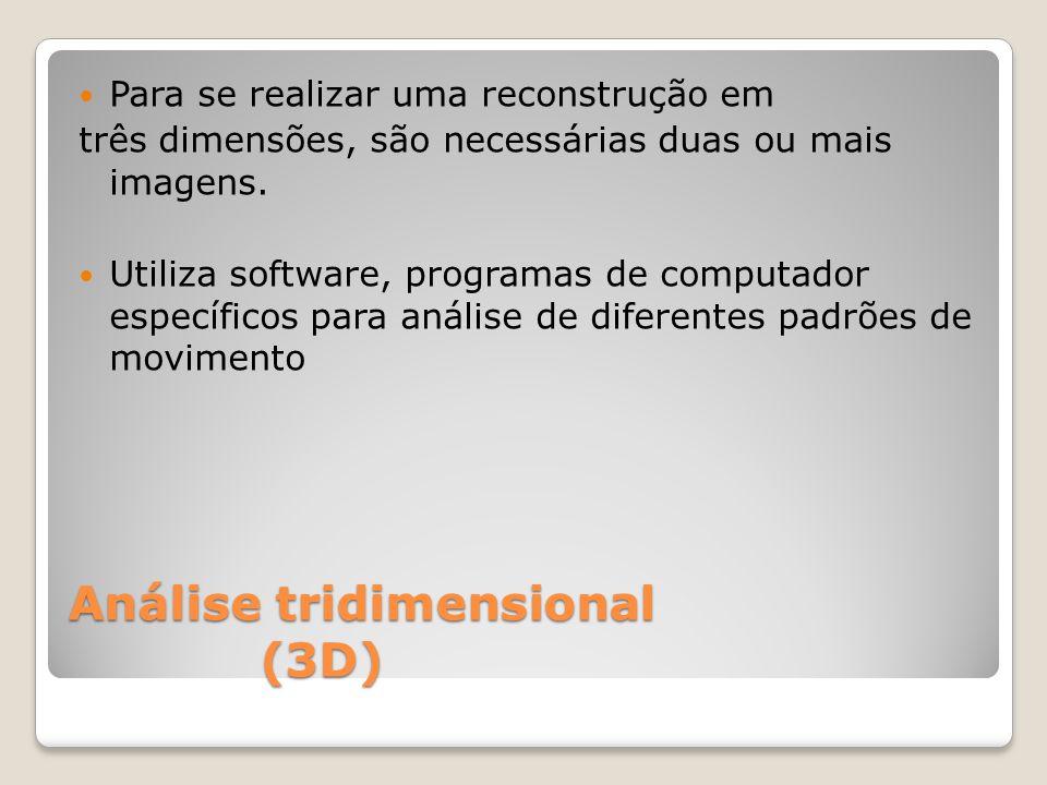 Análise tridimensional (3D) Para se realizar uma reconstrução em três dimensões, são necessárias duas ou mais imagens.