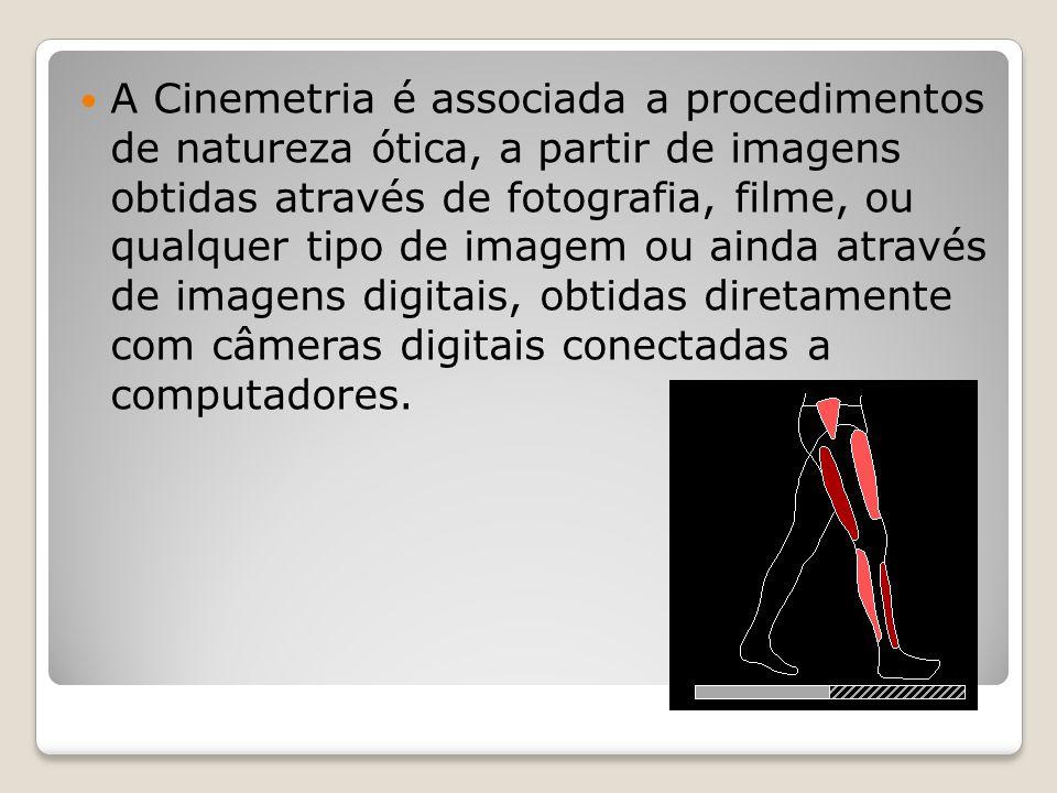 A Cinemetria é associada a procedimentos de natureza ótica, a partir de imagens obtidas através de fotografia, filme, ou qualquer tipo de imagem ou ainda através de imagens digitais, obtidas diretamente com câmeras digitais conectadas a computadores.