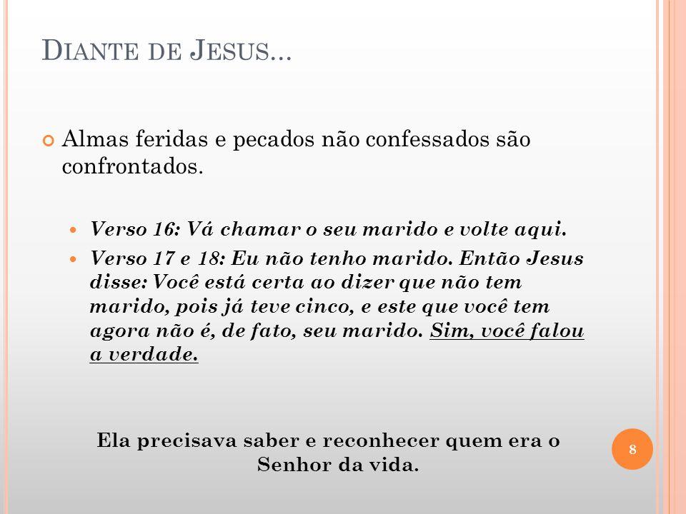 E M JESUS...Somos curados e libertos para prosseguir.