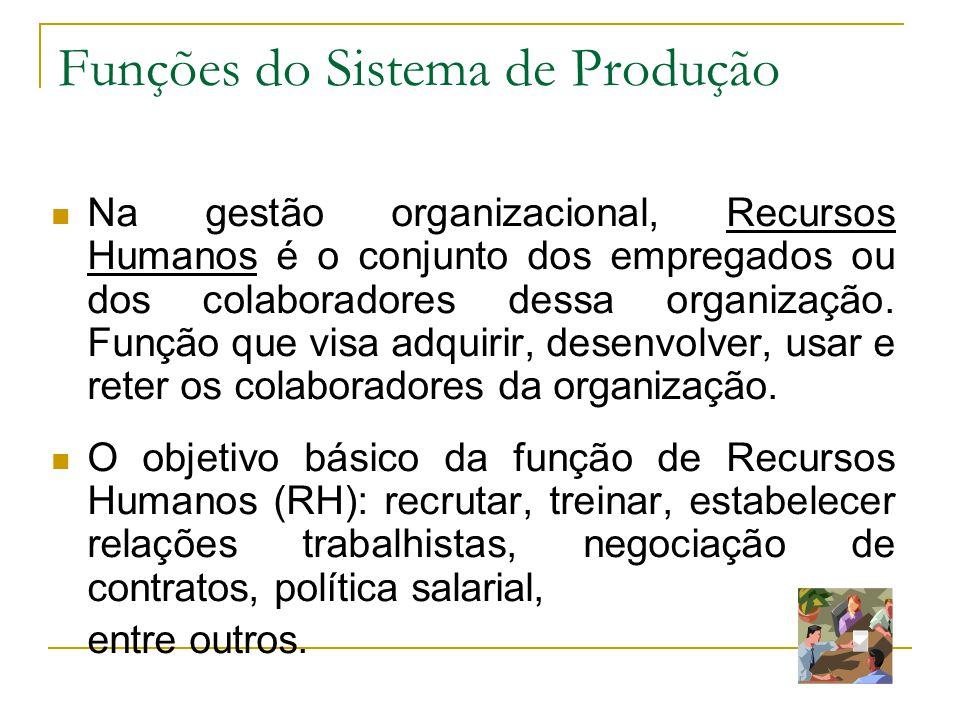 61 Funções do Sistema de Produção A Logística é a área da administração que cuida do transporte e armazenamento das mercadorias.