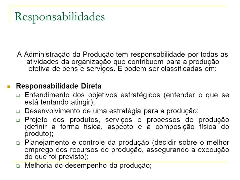68 Tipos de operação de produção Visibilidade - Depende do quanto da operação é exposto para os clientes.
