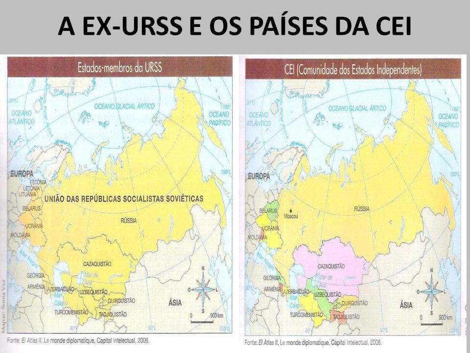 A EX-URSS E OS PAÍSES DA CEI