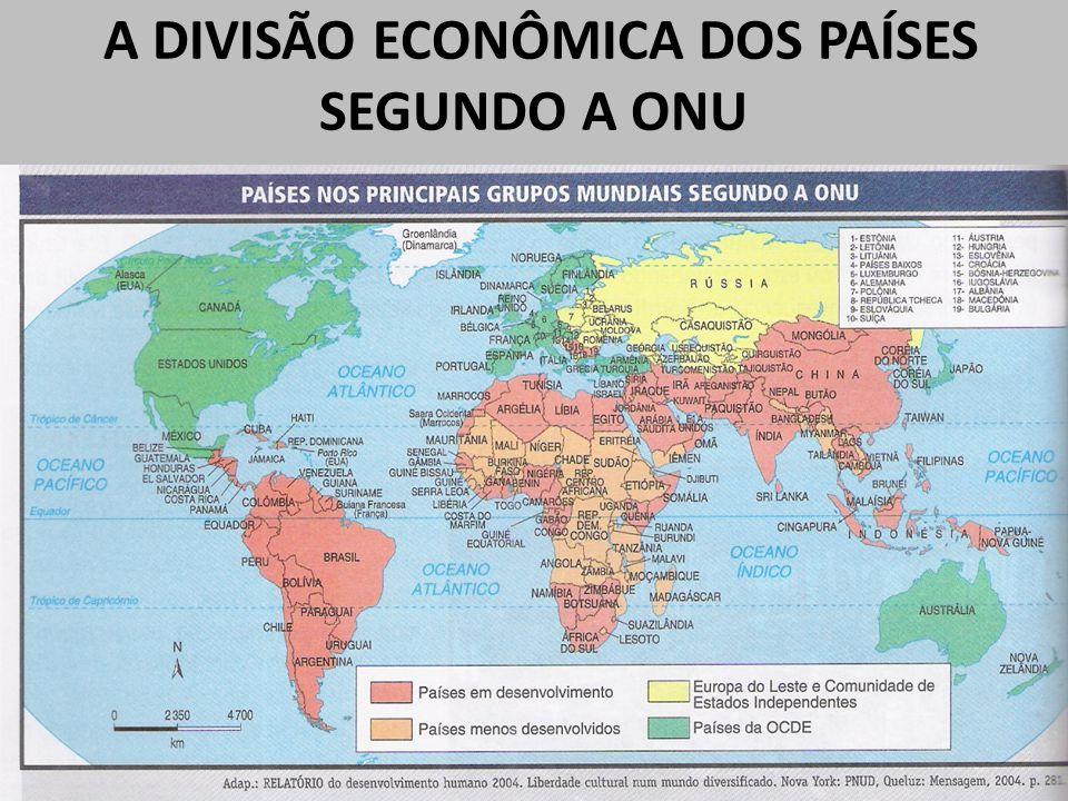 A DIVISÃO ECONÔMICA DOS PAÍSES SEGUNDO A ONU