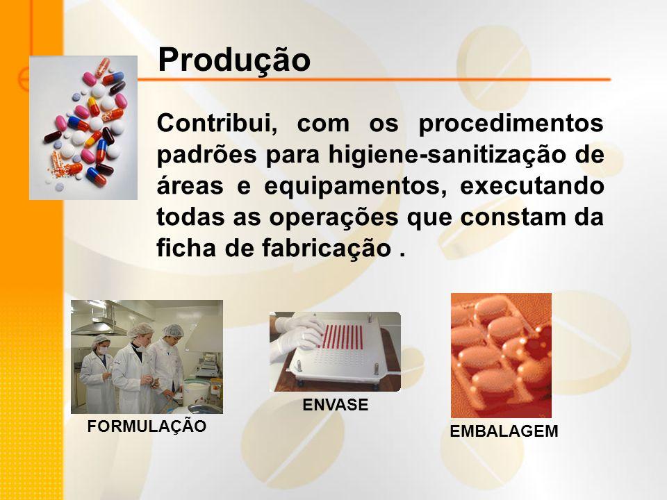 Contribui, com os procedimentos padrões para higiene-sanitização de áreas e equipamentos, executando todas as operações que constam da ficha de fabric