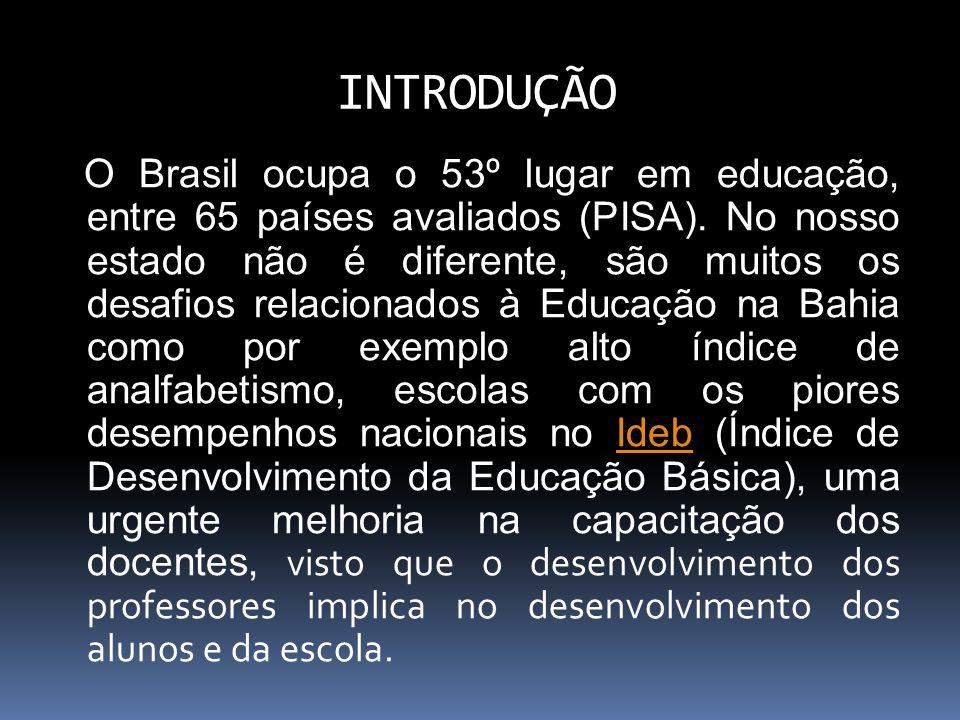 O Brasil ocupa o 53º lugar em educação, entre 65 países avaliados (PISA).