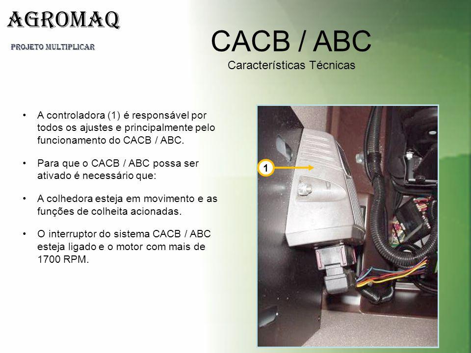 PROJETO MULTIPLICAR AGROMAQ CACB / ABC Características Técnicas A controladora (1) é responsável por todos os ajustes e principalmente pelo funcioname