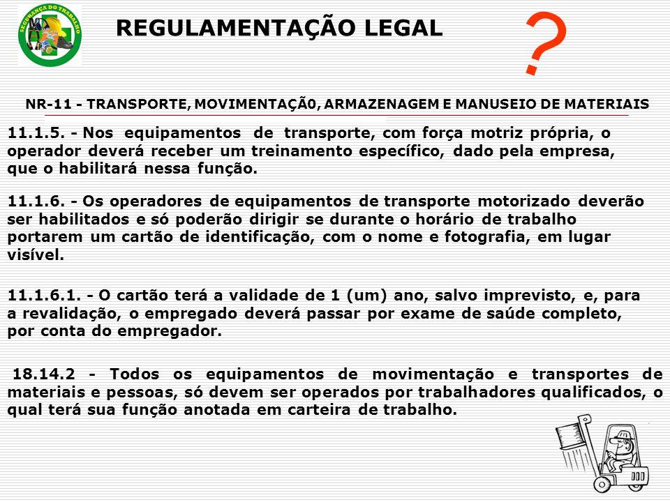 REGULAMENTAÇÃO LEGAL .