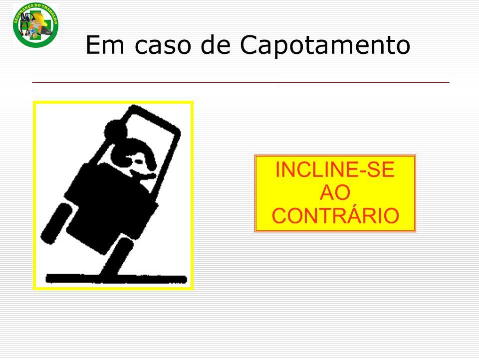 Em caso de Capotamento INCLINE-SE AO CONTRÁRIO