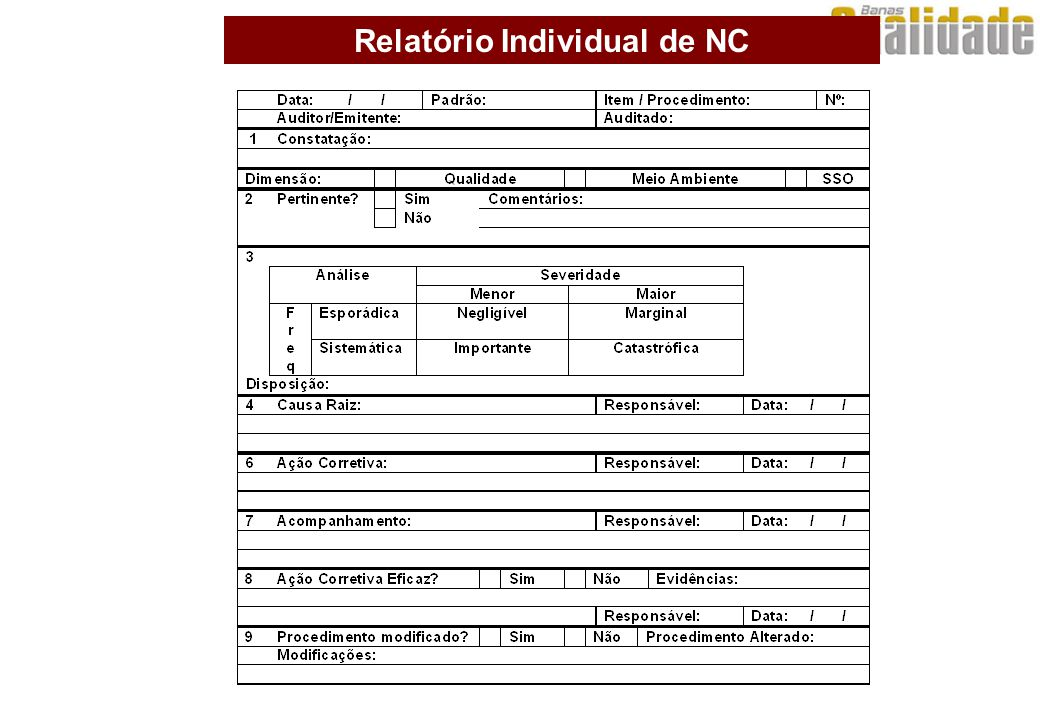 Relatório Individual de NC