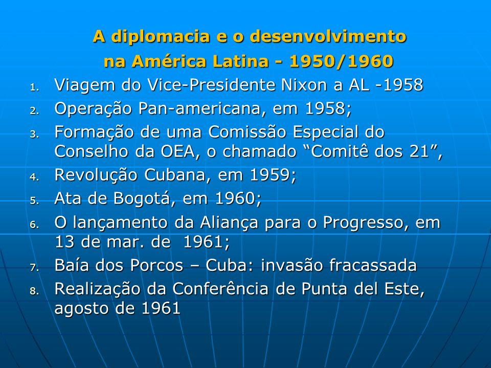 A diplomacia e o desenvolvimento A diplomacia e o desenvolvimento na América Latina - 1950/1960 na América Latina - 1950/1960 1.