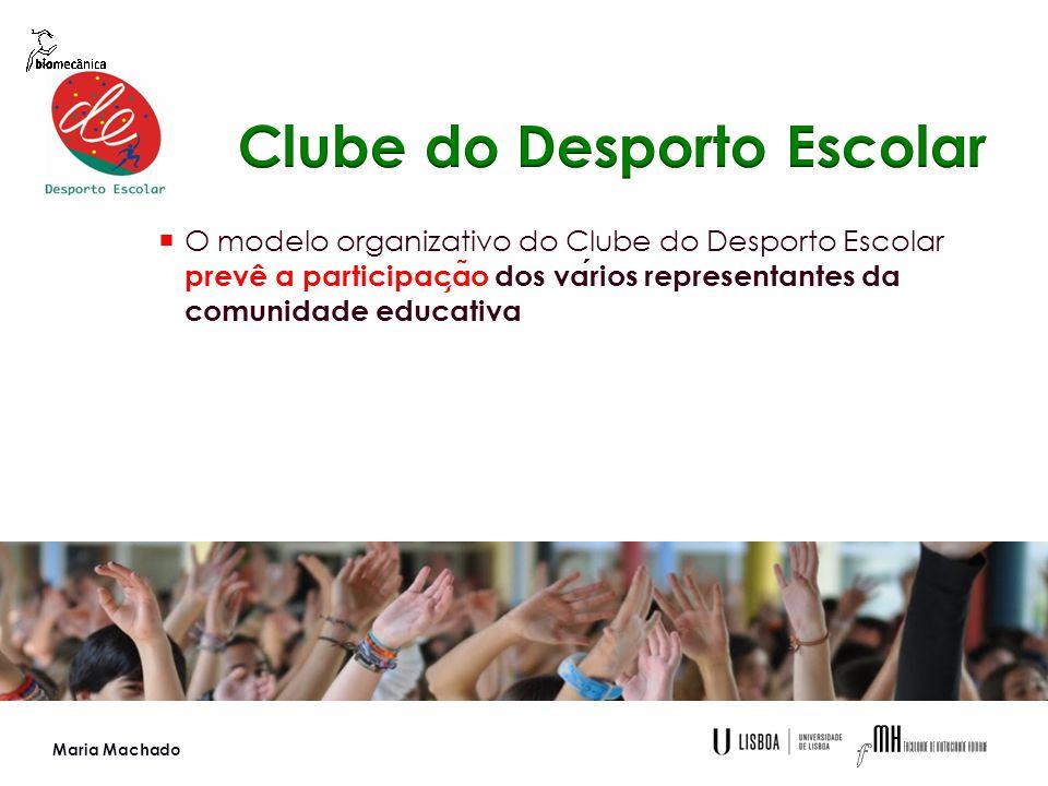  O modelo organizativo do Clube do Desporto Escolar prevê a participac ̧ a ̃ o dos varios representantes da comunidade educativa Maria Machado