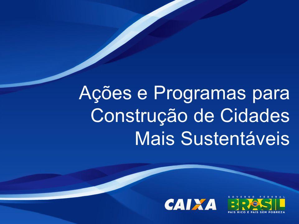 Ações e Programas para Construção de Cidades Mais Sustentáveis