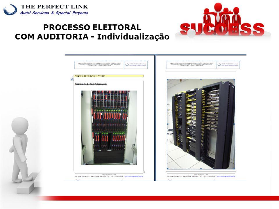 PROCESSO ELEITORAL COM AUDITORIA - Individualização