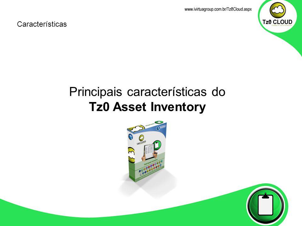 Características Principais características do Tz0 Asset Inventory