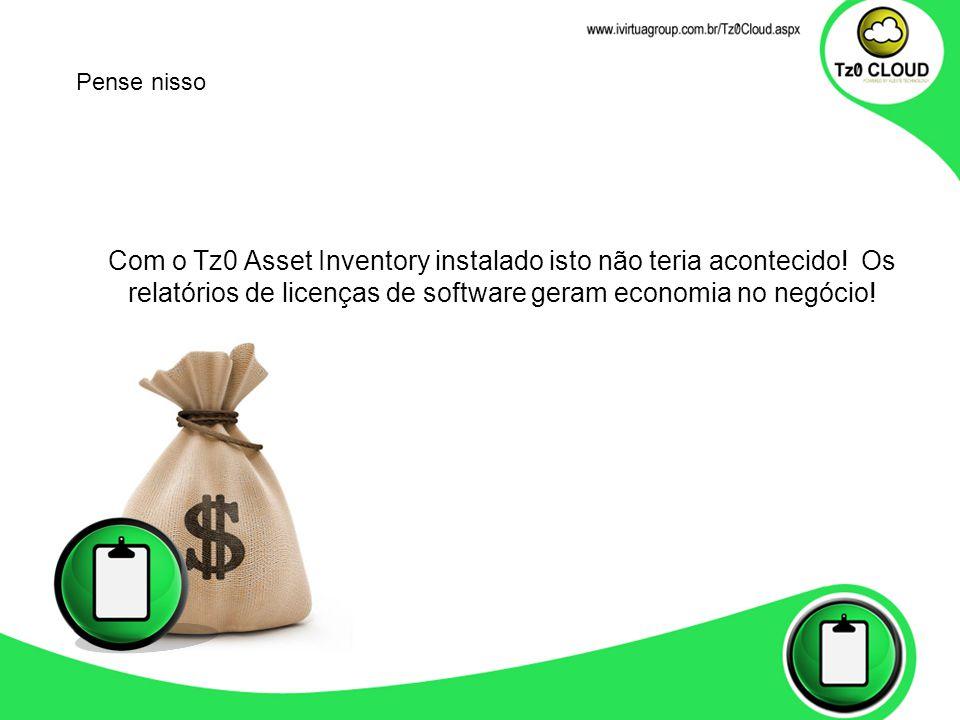 Com o Tz0 Asset Inventory instalado isto não teria acontecido.