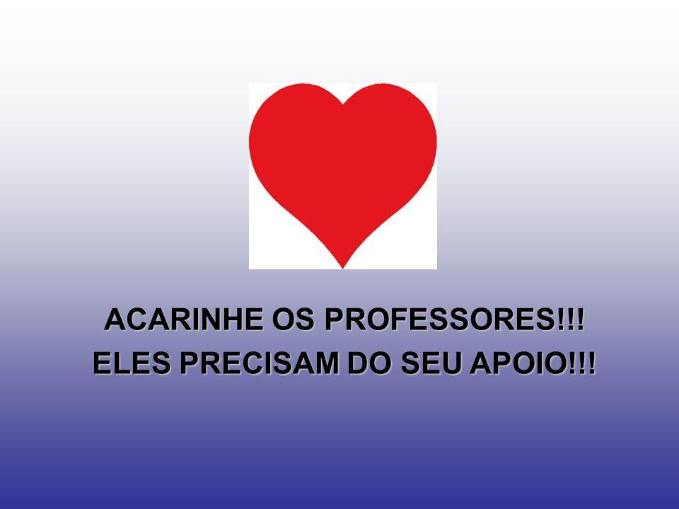 ACARINHE OS PROFESSORES!!! ELES PRECISAM DO SEU APOIO!!!