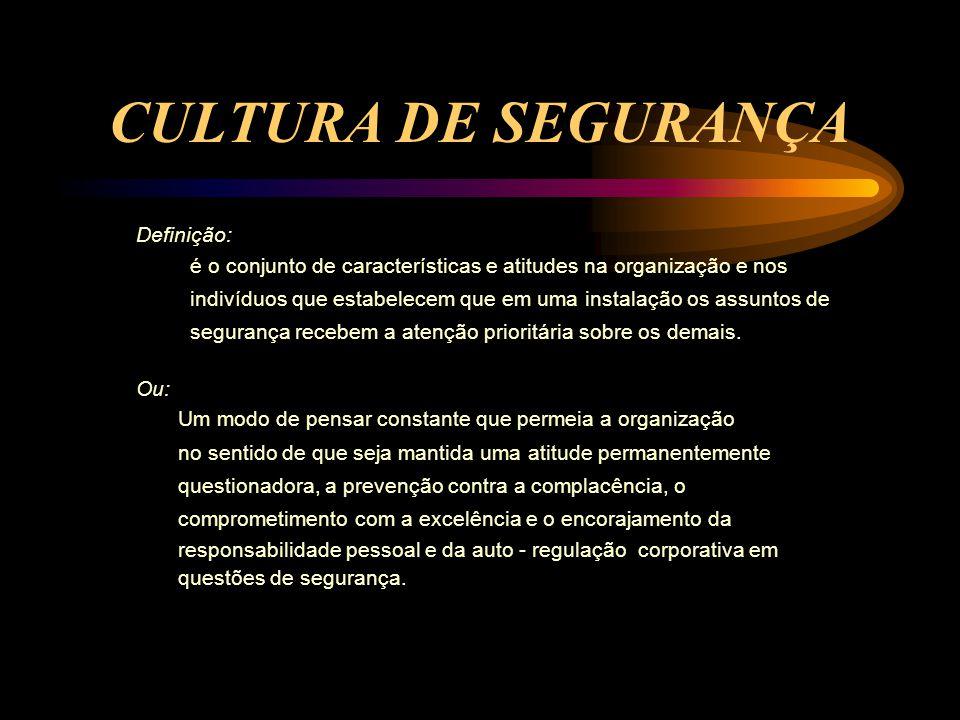 CARACTERÍSTICAS E ATITUDES NA ORGANIZAÇÃO E NOS INDIVÍDUOS ASSUNTOS DE SEGURANÇA RECEBEM A ATENÇÃO PRIORITÁRIA.