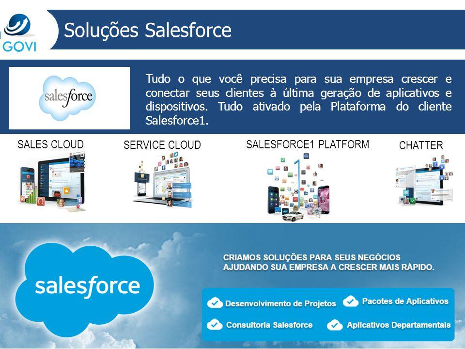Soluções Salesforce Tudo o que você precisa para sua empresa crescer e conectar seus clientes à última geração de aplicativos e dispositivos. Tudo ati
