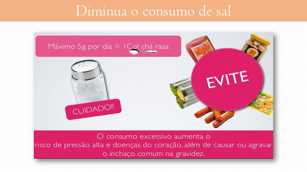 Diminua o consumo de sal