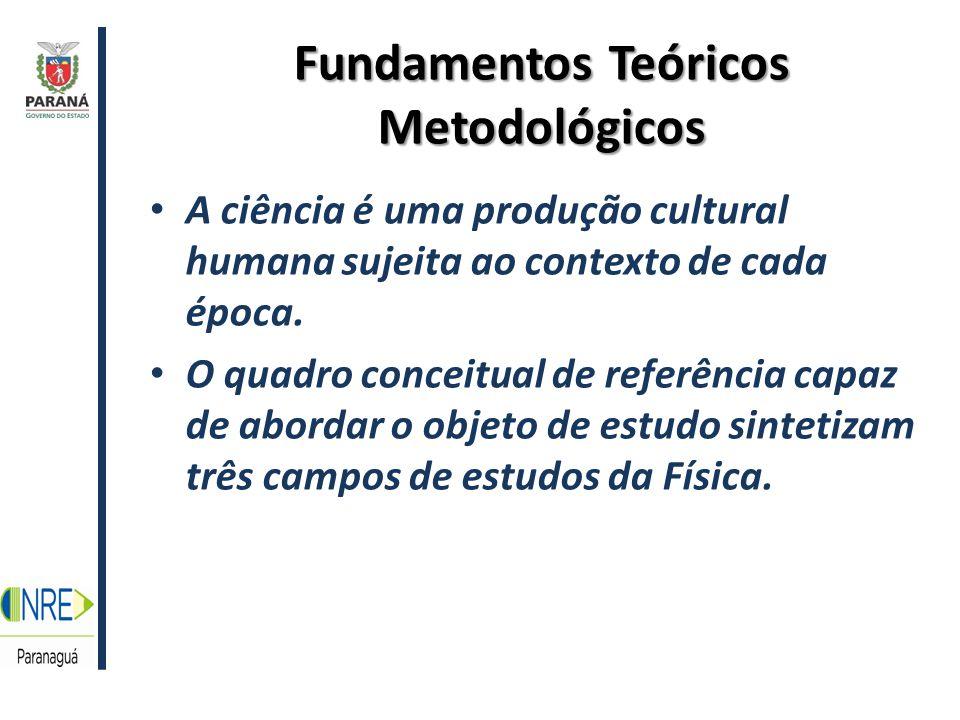 Fundamentos Teóricos Metodológicos A ciência é uma produção cultural humana sujeita ao contexto de cada época.