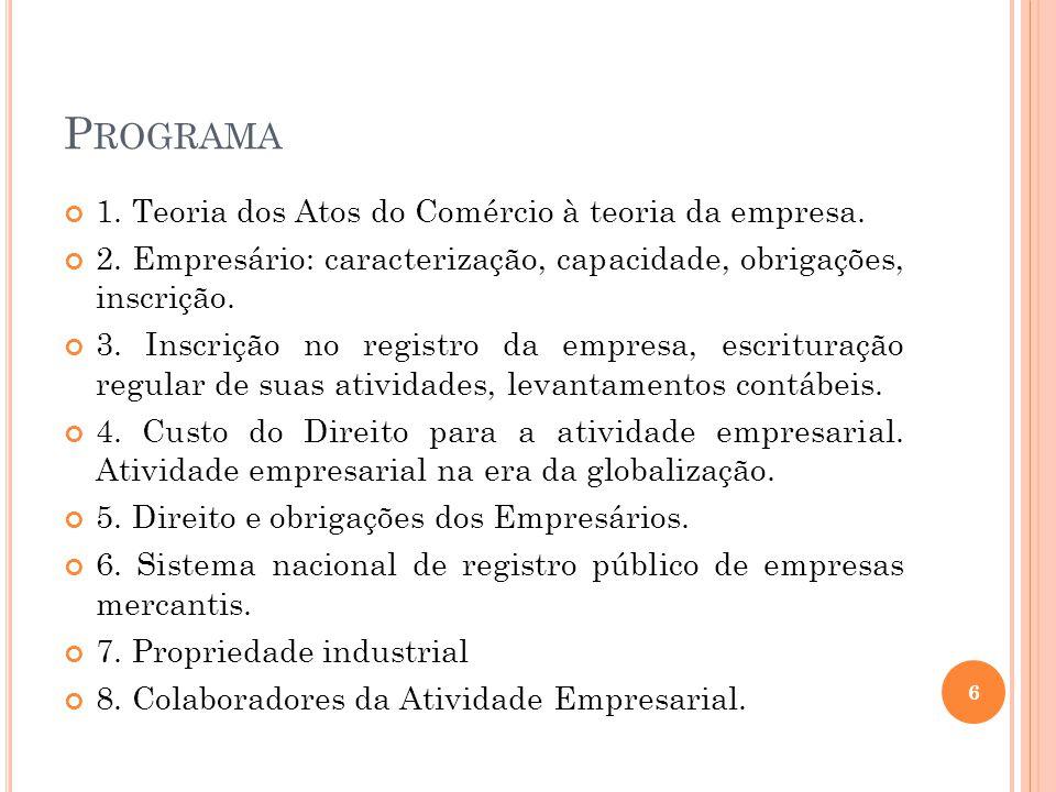 D IREITO E MPRESARIAL Autonomia - Livro I – Das Obrigações (art.
