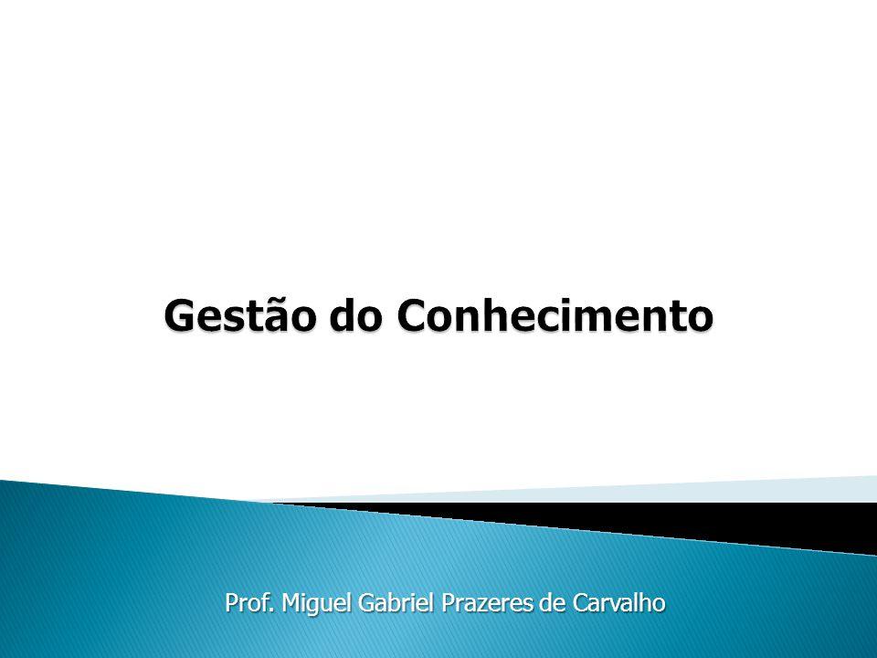 Prof. Miguel Gabriel Prazeres de Carvalho