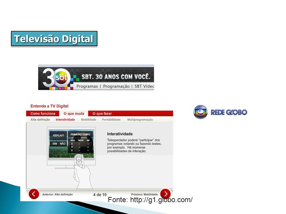 Televisão Digital hierárquica, pai-filho, hipônimo, genérica, especialização Fonte: http://g1.globo.com/