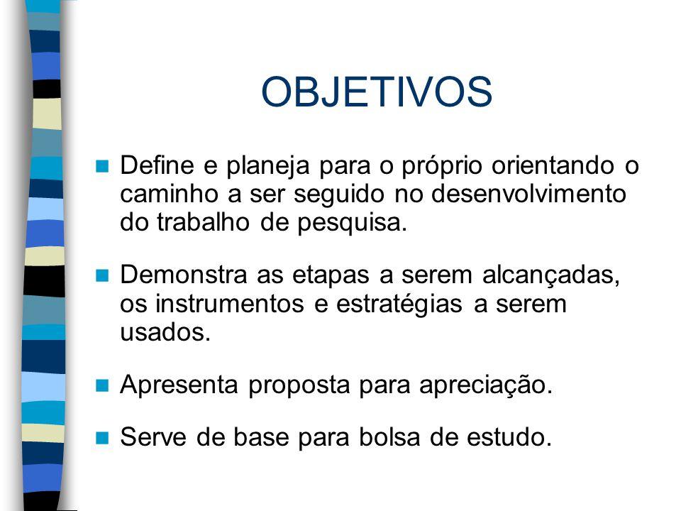 ESTRUTURA CAPA FOLHA DE ROSTO SUMÁRIO TEMA JUSTIFICATIVA PROBLEMA OBJETIVO REFERENCIAL TEÓRICO METODOLOGIA CRONOGRAMA REFERÊNCIAS