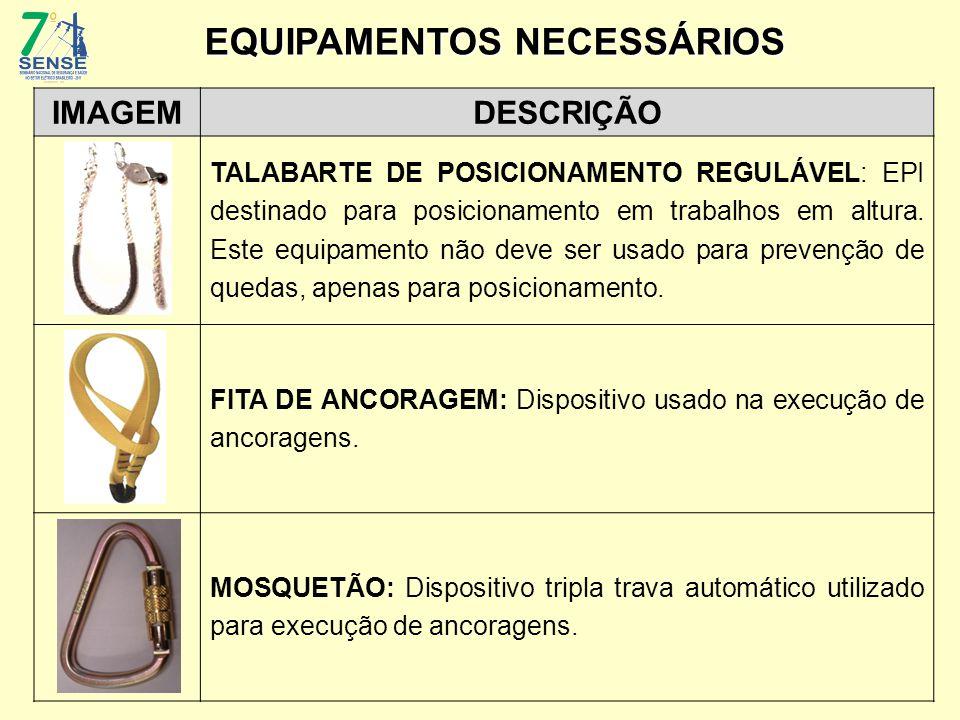 IMAGEMDESCRIÇÃO TALABARTE DE POSICIONAMENTO REGULÁVEL: EPI destinado para posicionamento em trabalhos em altura. Este equipamento não deve ser usado p