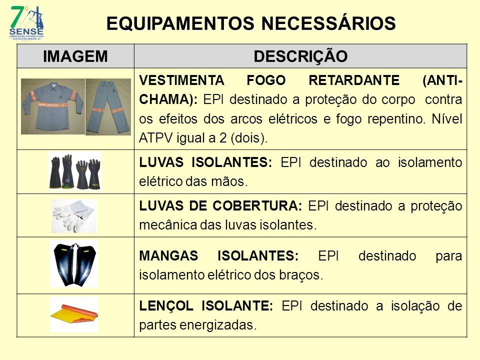 IMAGEMDESCRIÇÃO VESTIMENTA FOGO RETARDANTE (ANTI- CHAMA): EPI destinado a proteção do corpo contra os efeitos dos arcos elétricos e fogo repentino. Ní