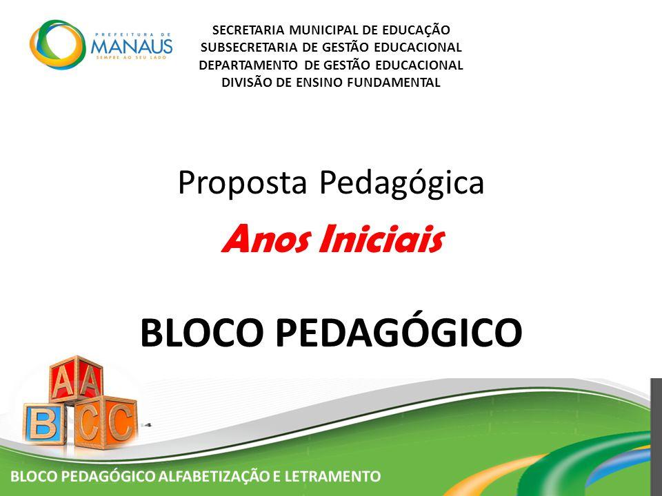 SECRETARIA MUNICIPAL DE EDUCAÇÃO SUBSECRETARIA DE GESTÃO EDUCACIONAL DEPARTAMENTO DE GESTÃO EDUCACIONAL DIVISÃO DE ENSINO FUNDAMENTAL Proposta Pedagóg