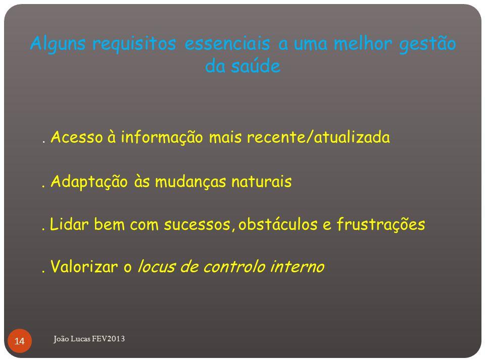 Alguns requisitos essenciais a uma melhor gestão da saúde.