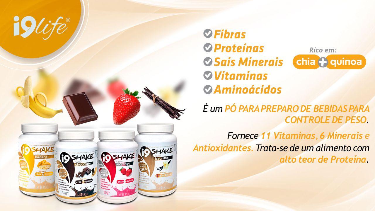 É um PÓ PARA PREPARO DE BEBIDAS PARA CONTROLE DE PESO. Fornece 11 Vitaminas, 6 Minerais e Antioxidantes. Trata-se de um alimento com alto teor de Prot
