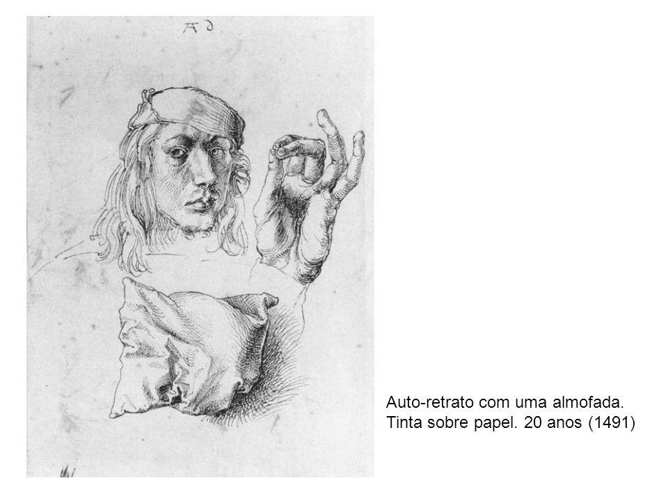 Auto-retrato com uma almofada. Tinta sobre papel. 20 anos (1491)
