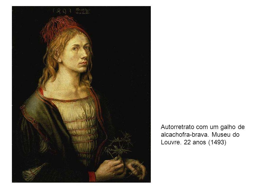 Autorretrato com um galho de alcachofra-brava. Museu do Louvre. 22 anos (1493)