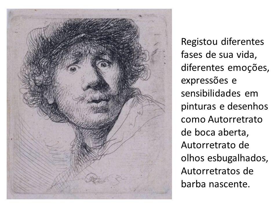 Registou diferentes fases de sua vida, diferentes emoções, expressões e sensibilidades em pinturas e desenhos como Autorretrato de boca aberta, Autorr