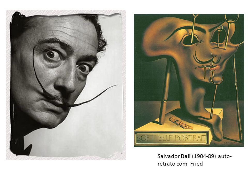 Salvador Dali (1904-89) auto- retrato com Fried