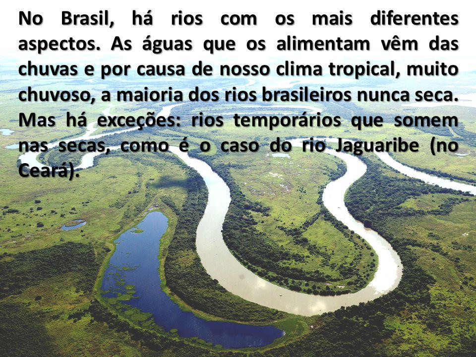 No Brasil, há rios com os mais diferentes aspectos.