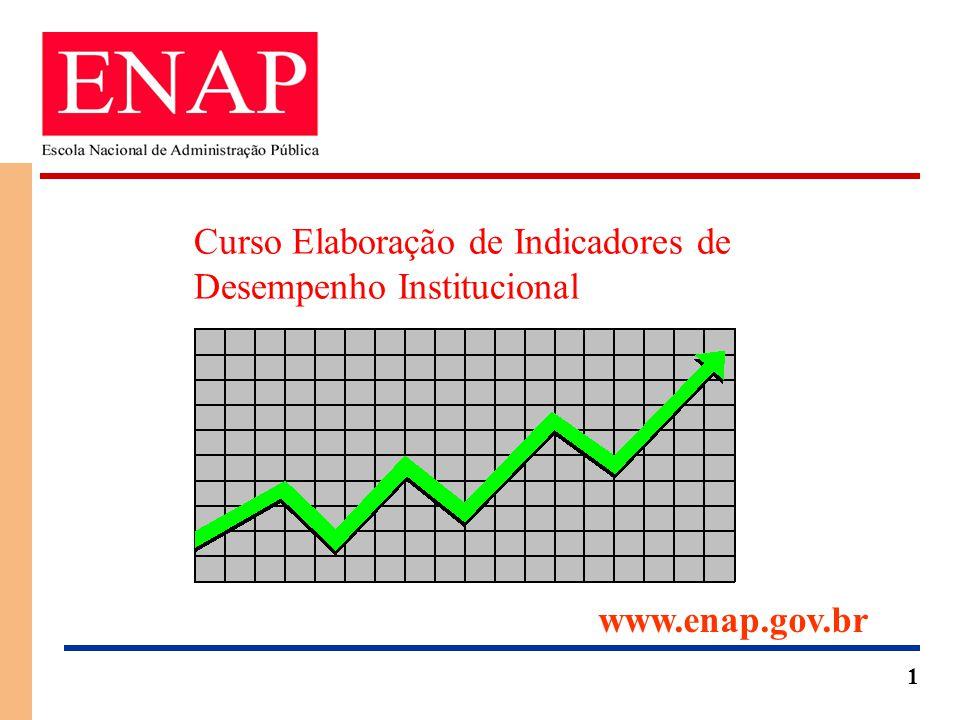 1 Curso Elaboração de Indicadores de Desempenho Institucional www.enap.gov.br