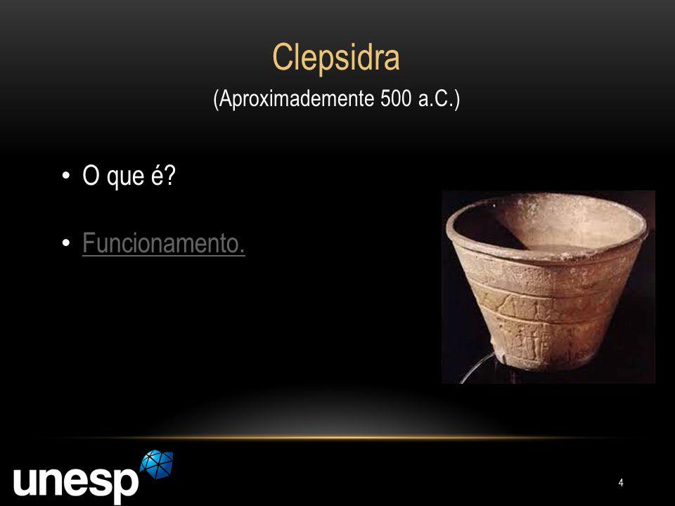 Clepsidra (Aproximademente 500 a.C.) O que é? Funcionamento. 4