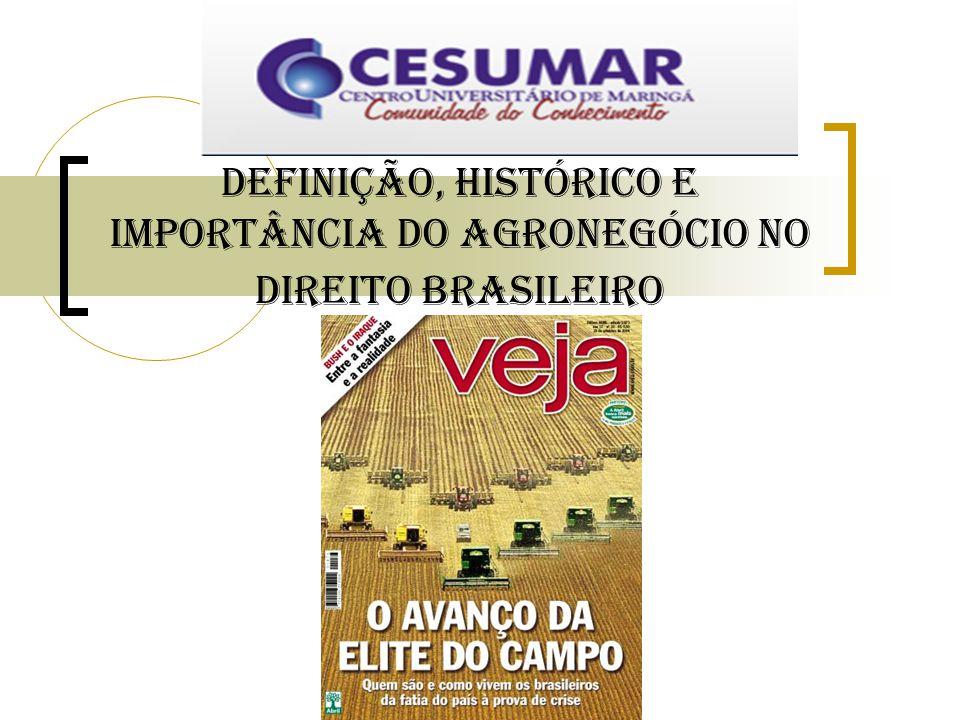 Definição, Histórico e importância do Agronegócio no Direito Brasileiro