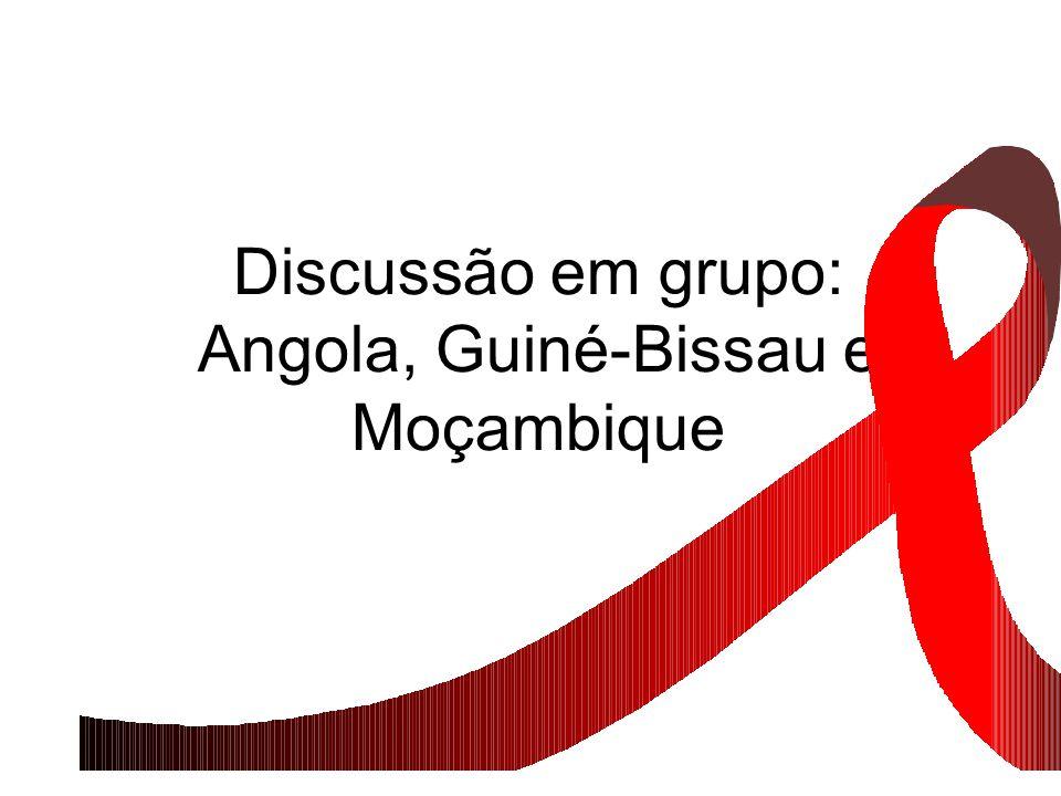 Discussão em grupo: Angola, Guiné-Bissau e Moçambique