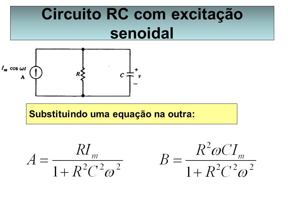 Substituindo uma equação na outra: